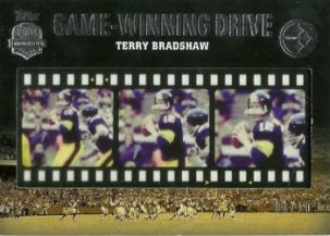 2012 Topps Game Winning Drives Terry Bradshaw Film Strip Card