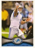 2012 Topps Matthew Stafford Base Card #225
