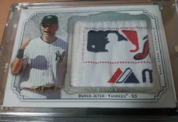 2012 Topps Museum Collection Derek Jeter Momentous Material Patch Card