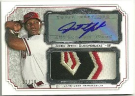 2012 Topps Museum Collection Justin Upton Jersey Patch Autograph
