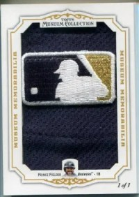 2012 Topps Museum Collection Prince Fielder MLB Logo Patch Card