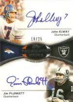 2012 Topps Paramount Pairs John Elway Jim Plunkett Autograph