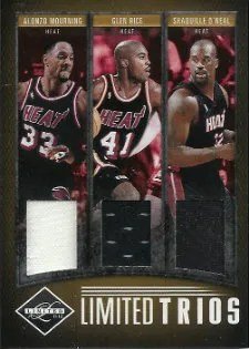 2011-12 Panini Limited Trios #10 Alonzo Mourning - Glen Rice - Shaquille O'Neal #/25