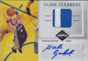 2011-12 Panini Limited Glass Cleaners Auto Jersey #7 Marcin Gortat #/25
