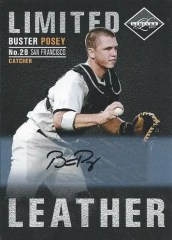 2011 Panini Limited Leather Autograph Buster Posey Card #18