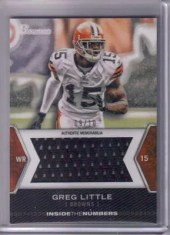 2012 Bowman Greg Little Jumbo Jersey Card