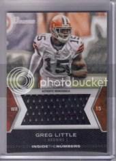 2012 Bowman Greg Little Jumbo Jersey Card