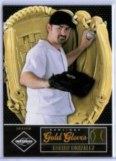 2011 Panini Limited Rawlings Gold Gloves Adrian Gonzales #/299