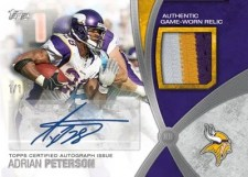 2012 Topps Football Adrian Peterson Auto Patch