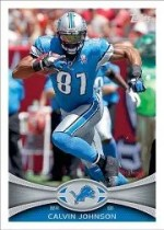 2012 Topps Football Calvin Johnson Base Card