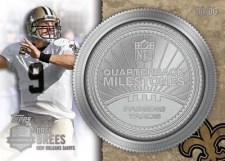 2012 Topps Football Drew Brees QB Milestones Silver