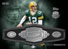 2012 Topps Football Aaron Rodgers MVP Belt