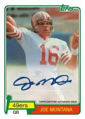 2012 Topps Football Joe Montana Autograph Reprint