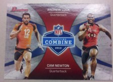 2012 Bowman Football Combine Competition Cam Newton Andrew Luck