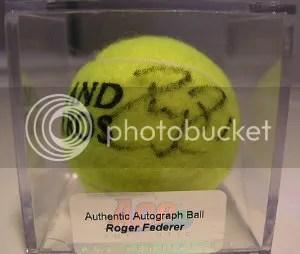 Ace Authentics Roger Federer Autograph Tennis Ball