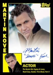 2012 Topps Archives Martin Kove Autographs