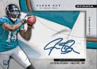 2012 Topps Strata Justin Blackmon Clear Cut Auto