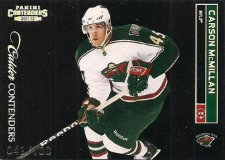 2011-12 Playoff Contenders Calder Collection Carson McMillan RCa