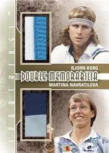 2012 Sportkings Series E Double Memorabilia Card #DM-06 Bjorn Borg - Martina Navratilova