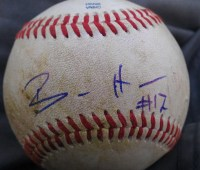 Billy Hamilton Autograph Baseball