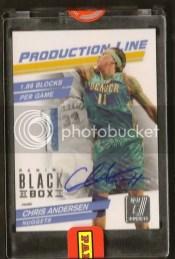 2012 Panini Black Box Chris Anderson Patch Auto 1/1