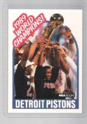 1989-90 NBA Hoops Detroit Pistons Sp Championship Card