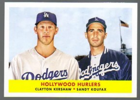 2012 Topps Archives Kershaw - Koufax Classic Combos Insert Card