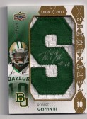 2012 Upper Deck Robert Griffin III Autograph Letterman 'S' /45