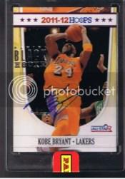 2011-12 Panini Black Box Hoops Kobe Bryant Auto 1/1