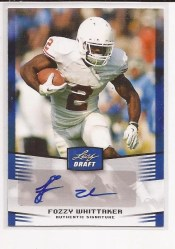 2012 Leaf Draft Fozzy Whittaker Autograph Blue