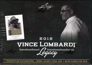 2012 Leaf Vince Lombardi Legacy Football Box