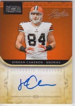2011 Playoff National Treasures Jordan Cameron Autograph RC Card #/99