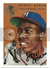 2012 Topps Tribute Hank Aaron Reprint Buyback Autograph