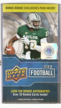 2012 Upper Deck Football Retail Blaster Box