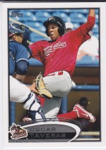 2012 Topps Pro Debut Oscar Tavaras Base Variation Sp