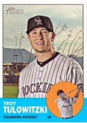 2012 Topps Heritage Baseball Troy Tulowitzki Sp Card