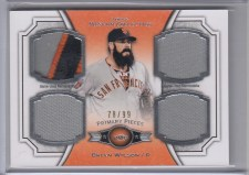 2012 Topps Museum Collection Brian Wilson Quad Primary Pieces
