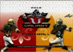 2012 Leaf Valiant Football Box