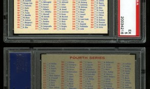 1957 Topps Twin Blony Back Checklist Card