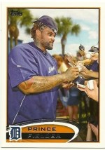 2012 Topps Series 2 Prince Fielder Base Variation Sp Card