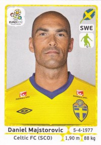 2012 Panini Euro Futbol Stickers Majstorovic
