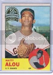 2012 Topps Heritage Baseball Matty Alou Buyback 50th Anniversary