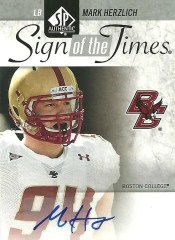 2011 Sp Authentic Football Sign of the times auto