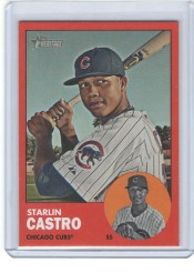 2012 Topps Heritage Baseball Starlin Castro Red Border