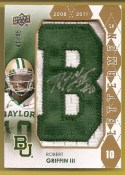 2012 Upper Deck Robert Griffin III Autograph Letterman 'B'