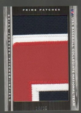 2011 Panini Limited USA National Team Prime Patches Brian Johnson #8