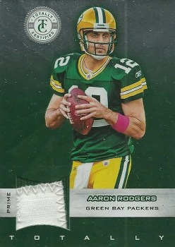 2011 Panini Totally Certified Aaron Rodgers Prime Jersey Card