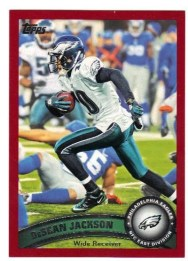 2011 Topps Factory Set Red Parallel DeSean Jackson Card #/77