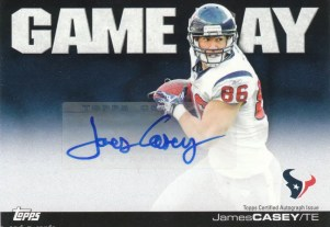 2011 Topps Gameday James Casey Autograph