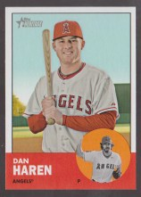 2012 Topps Heritage Card Dan Haren - Mark Trumbo Error SSp Card